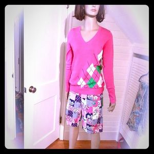 Lilly pulitzer argyle sweater, S